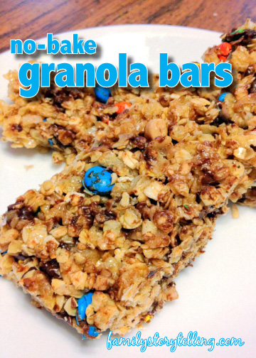 family storytelling granola bar recipe homemade chewy